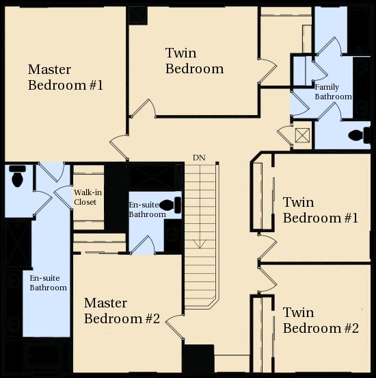 Windsor hills kissimmee villa floor plan for Upstairs floor plans